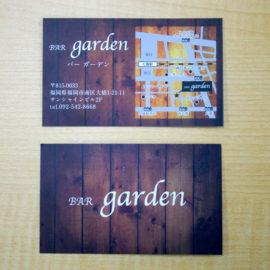 BAR garden様オープンツールをデザイン