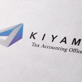 デザイン制作事例:福岡市中央区木山税理士事務所様のロゴマークをデザイン致しました。