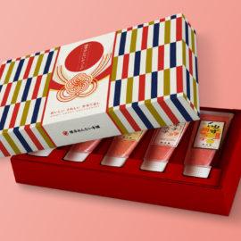 デザイン制作事例:福岡市東区博多めんたい本舗様のパッケージデザイン