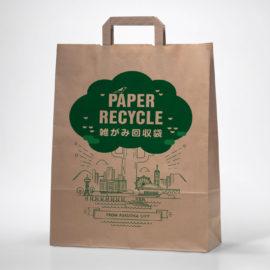 デザイン制作事例:福岡市中央区福岡市環境局様雑がみ回収袋デザイン