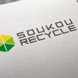 デザイン制作事例:福岡県筑紫野市有限会社創光リサイクル様のロゴマークをデザイン致しました。