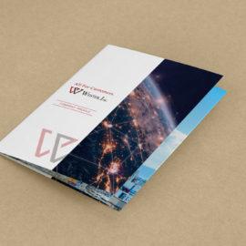 デザイン制作事例:福岡市博多区株式会社ウエスター様の会社案内パンフレットデザイン