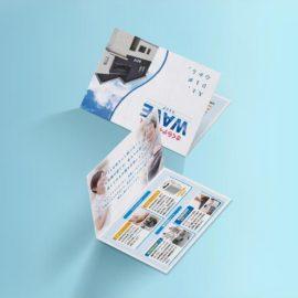デザイン制作事例:福岡県大野城市さくらデイサービスWAVE様の会員様向けパンフレットをデザインしました。